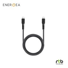 Energea Cable FibraTough 3.1Gen2 USB-C to USB-C 1M - Black