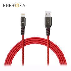 สายชาร์จ Energea Alutough MFI Lightning Cable ยาว 1.5m - Red