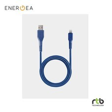 Energea FibraTough Cable, Charge and Sync Tough Lightning MFI 1.5m - Blue