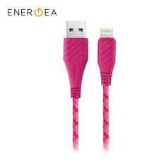 สายชาร์จ Energea NyloXtreme Combat MFI Lightning Cable ยาว 1.5m - Pink