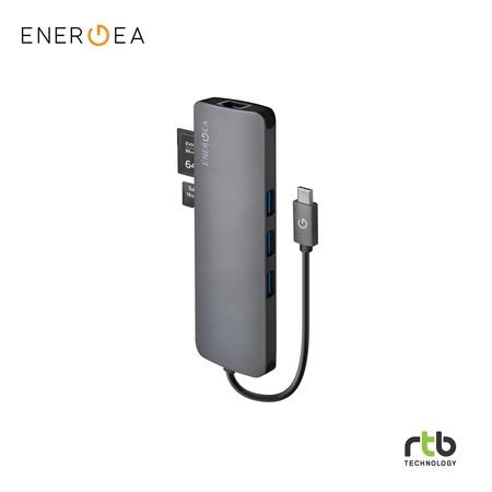 Energea AluHub C Charger Aluminium 3.1 USB-C All-in-1 Hub