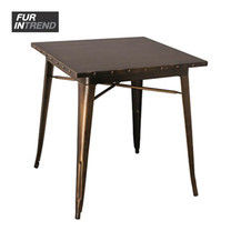 Furintrend โต๊ะเหล็ก รุ่น European - Red Copper