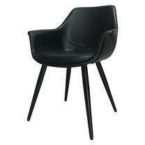 Furintrend เก้าอี้อามร์แชร์ เก้าอี้นั่งกินข้าว เก้าอี้พักผ่อน เก้าอี้ รุ่น SEN7 สีดำ