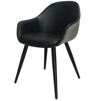 Furintrend เก้าอี้อามร์แชร์ เก้าอี้นั่งกินข้าว เก้าอี้พักผ่อน เก้าอี้ รุ่น IVY6 สีดำ
