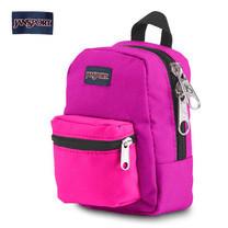 JanSport กระเป๋าเป้ขนาดเล็ก รุ่น Lil Break - Neon Purple/UltraPnk