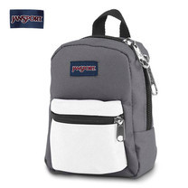 JanSport กระเป๋าเป้ขนาดเล็ก รุ่น Lil Break - Shady Grey / White