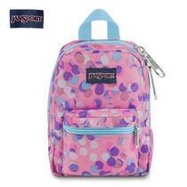 JanSport กระเป๋าเป้ขนาดเล็ก รุ่น Lil Break - Pink Sparkle Dot