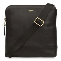 """กระเป๋าหนังสะพายข้าง KNOMO Cross Body Leather Bag WOODSTOCK 8"""" - Black"""