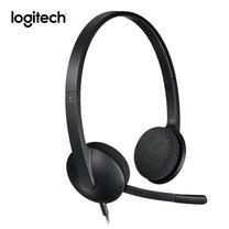 Logitech หูฟังเชื่อมพอร์ต USB รุ่น H340 - Black
