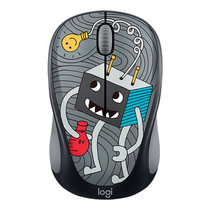 Logitech Wireless Mouse M238 - LightBulb (The Doodle Collection)