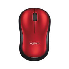 Logitech Wireless Mouse M185 - Red - AP