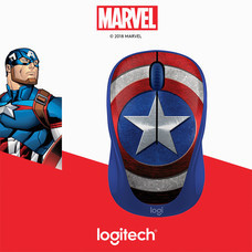 LOGITECH WIRELESS MOUSE M238 MARVEL COLLECTION (CAPTAIN AMERICA)