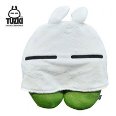 TUZKI หมอนรองคอมีหมวก - สีเขียว