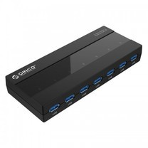 ORICO H727RK-U3 7 Ports USB 3.0 HUB /w power 12V2A - Black