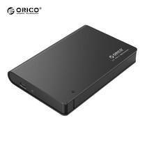 """กล่องอ่านฮาร์ดดิสก์ 2.5"""" ORICO Enclosure 2598C3-BK USB 3.1 gen 1 Type-C - สีดำ"""
