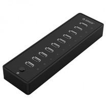ORICO P10-U2 10 Ports USB 2.0 HUB w/ Power 12V 3A - Black