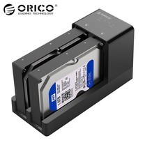 ORICO 6528US3-C 2.5 / 3.5 inch Hard Drive Enclosure with Duplicator - Black