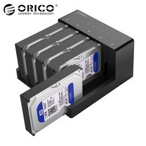ORICO 6558US3-C 2.5 / 3.5 inch Hard Drive Enclosure with Duplicator - Black