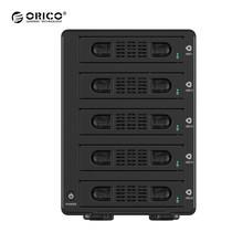 """กล่องอ่านฮาร์ดดิสก์ 3.5"""" ORICO Enclosure 5 ช่อง รุ่น 3559SUSJ3 USB 3.0 + eSATA - สีดำ"""