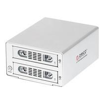 """กล่องอ่านฮาร์ดดิสก์ 3.5"""" ORICO Enclosure 2 ช่อง RAID 3529RUS3-S-USB 3.0+eSATA+RAID 0/1-สีเงิน"""