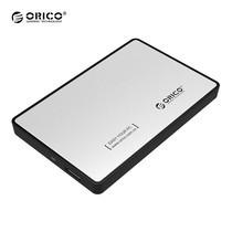 """กล่องอ่านฮาร์ดดิสก์ 2.5"""" ORICO Enclosure 2588US3-SV USB 3.0 - สีเงิน"""