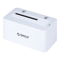 """ด๊อกกิ้งORICO รุ่น 6619SUSI3 สำหรับ HDD/SSD 2.5"""" หรือ 3.5"""" 1 ช่อง USB 3.0+eSATA+Firewire800 - สีขาว"""
