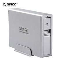 """กล่องอ่านฮาร์ดดิสก์ 3.5"""" ORICO Enclosure 1 ช่อง รุ่น 7618UI3 USB 3.0+eSATA+Firewire400/800 - สีเงิน"""