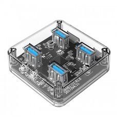 ORICO MH4U-U3 USB 3.0 Transparent Desktop HUB - Clear
