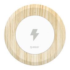ORICO WOC1 Intelligent Wireless Charging Pad -White+Wood-Grain