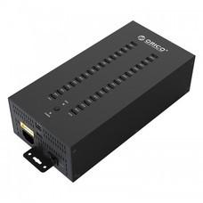 ORICP IH30P industrial 30 Ports USB 2.0 Hub - Black