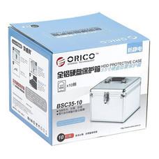 กล่องเก็บฮาร์ดดิสก์ อลูมิเนียม ORICO BSC35-10 รองรับฮาร์ดดิสก์ 10 ลูก - สีเงิน