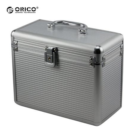 กล่องเก็บฮาร์ดดิสก์ อลูมิเนียม ORICO BSC 35-5 รองรับฮาร์ดดิสก์ 5 ลูก - สีเงิน