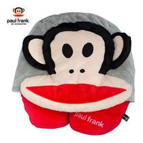 Paul Frank หมอนรองคอมีหมวก - สีเทาแดง