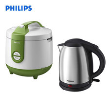 Philips Perfect Breakfast Gift Set (หม้อหุงข้าวHD3119 + กาต้มน้ำร้อน HD9306)