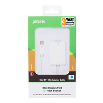 Prolink Mini Display Port to VGA Socket Adapter - 0.2m (MP351)