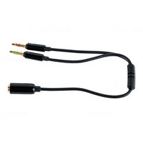 Prolink Stereo Sockets 2 x 3.5mm Cable - 0.15m ( PB162-0015)