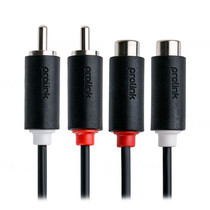 Prolink 2 x RCA plugs to 2 x RCA Sockets Extender - 5m (PB102-0500)