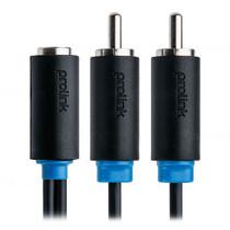 Prolink RCA Sockets 2 x RCA plugs - 0.3m (PB116-0030)