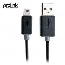 Prolink USB 2.0 Type A to USB Mini B Cable - 1.5 m (PB468-0150)
