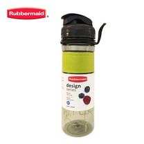 Rubbermaid ขวดน้ำ Design Series Bottle Line Pattern 600 มล.- สีเขียวลายเส้น