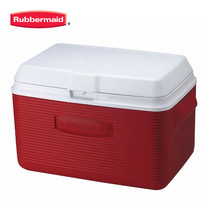 Rubbermaid คูลเลอร์  Victory Cooler (34 ควอร์ต/32.1 ลิตร) - สีแดง