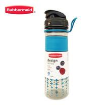 Rubbermaid ขวดน้ำ Design Series Bottle Cross Pattern 600 มล. - สีฟ้าลายกากบาท