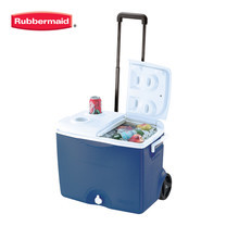 Rubbermaid คูลเลอร์มีล้อ Wheeled Victory Cooler (45 ควอร์ต/42.5 ลิตร) - สีน้ำเงิน