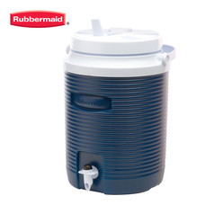 Rubbermaid กระติกกลม มีที่กดน้ำ Victory Jug (2 แกลลอน/7.6 ลิตร) - สีน้ำเงิน