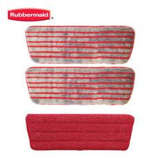 Rubbermaid อะไหล่ Bonus Pack Reveal Scrub Pad (แพ็คประหยัด 2 แถม 1) - สีแดง/เทา