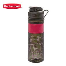Rubbermaid ขวดน้ำ Design Series Bottle Squiggle Sorbet 600 มล. - สีชมพู