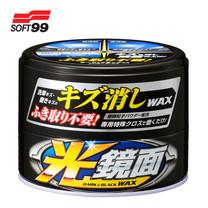 SOFT99 แวกซ์ลบรอยพร้อมเคลือบสีรถ สำหรับรถสีดำ New Scratch Clear Wax Mirror Finish (Dark&Black) 200 g