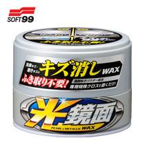 SOFT99 แวกซ์ลบรอยพร้อมเคลือบสีรถ สำหรับรถสีบรอนซ์ New Scratch Clear Wax Mirror Finish (Pearl&Metallic) 200g