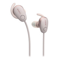 หูฟังไร้สาย Sony WI-SP600N Wireless Sports Headphones with Noise Cancelling and IPX4 Splash Proof - Pink