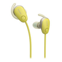 หูฟังไร้สาย Sony WI-SP600N Wireless Sports Headphones with Noise Cancelling and IPX4 Splash Proof - Yellow